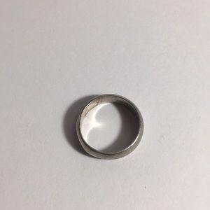Size 5 sterling unisex vintage ring